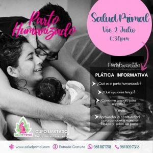 Platica Parto Humanizado en Salud Primal Playa del Carmen